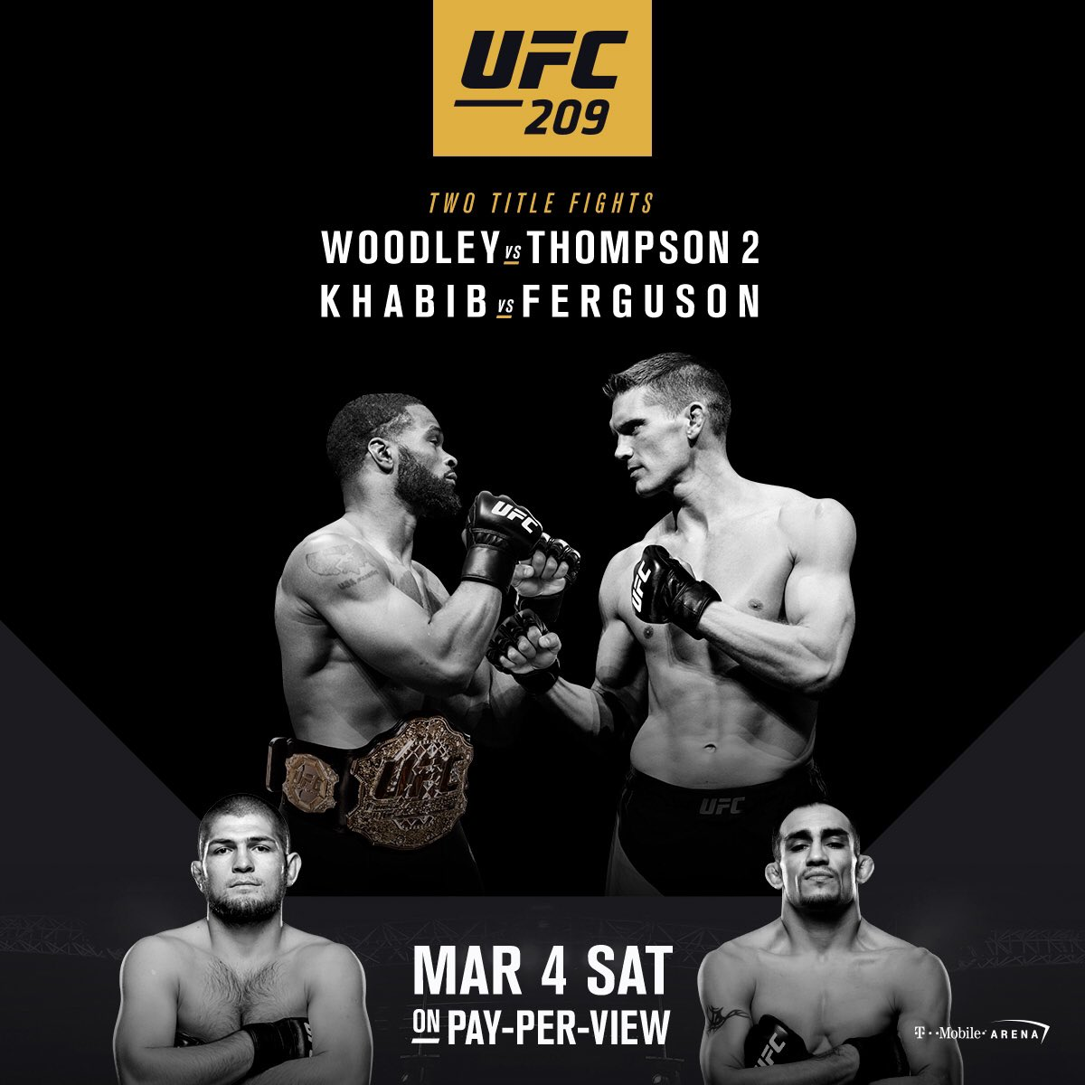 I got the exclusive! The Official #UFC209 Poster! See you in Las Vegas! @ufc #andStill https://t.co/sPbQMX4NxZ