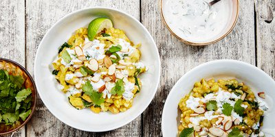 One-Pot Curried Cauliflower With Couscous and Chickpeas