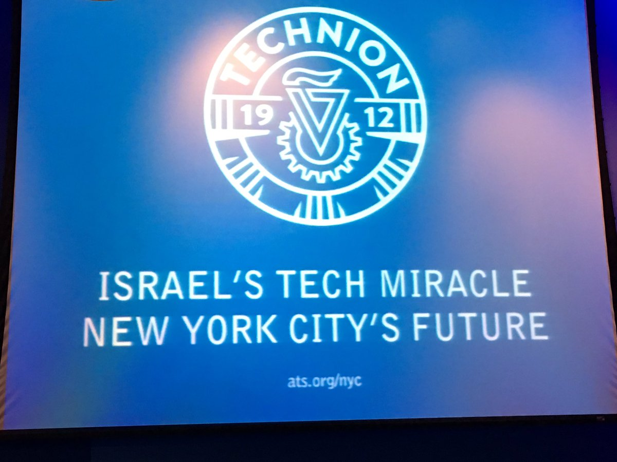 Excited and proud to be at @TechnionLive event in NYC with Peretz Lavie and Dani Dayan https://t.co/AAiJEdjwRn