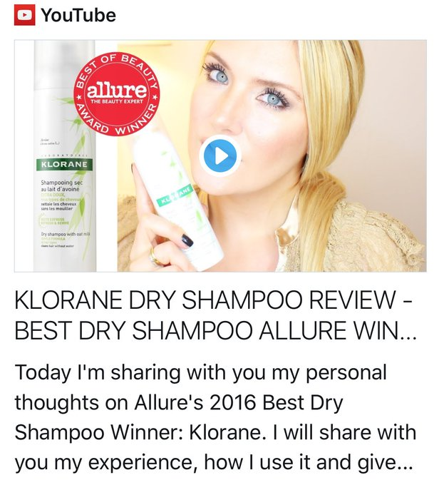 BEST DRY SHAMPOO ALLURE WINNER: KLORANE REVIEW