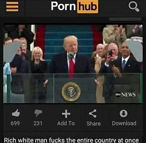 PornHub upload Trump's inauguration speech