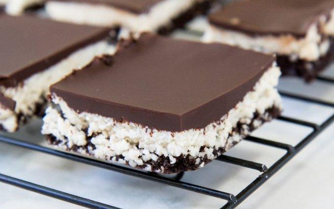 No-Bake Chocolate Coconut Walnut Brownies [Vegan, Gluten-Free]