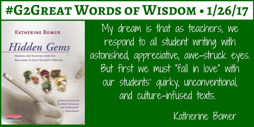 #G2Great Words of Wisdom @KatherineBomer https://t.co/Dn6Px3jIco … https://t.co/GY39WkNNwI