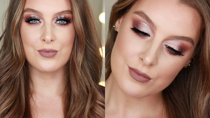 Glitter Half Cut Crease Makeup Tutorial