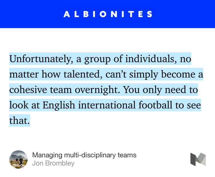 """Managing multi-disciplinary teams"" — @jonbrombley https://t.co/GWHuwwlepQ https://t.co/EpvtBJDlfk"