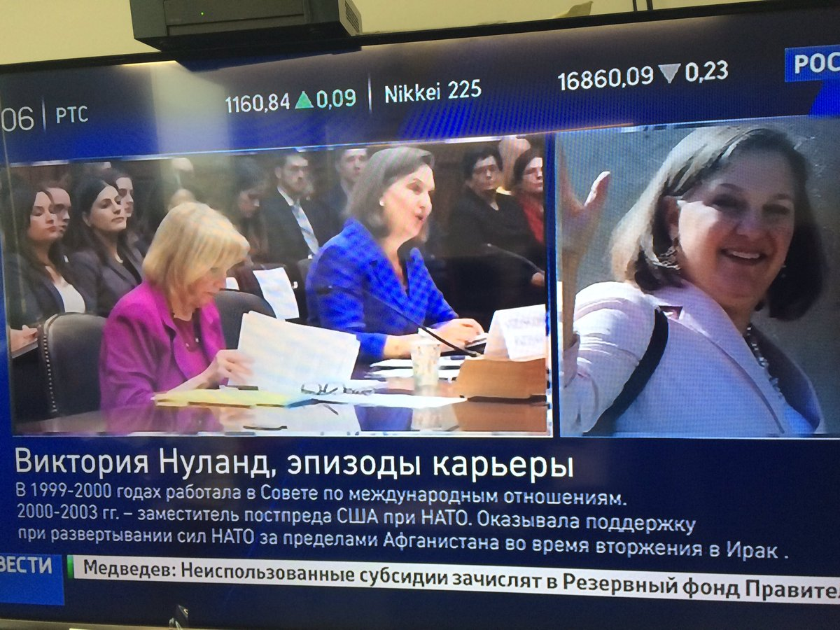Russian state TV celebrates the exit of Victoria Nuland. Who will be their new bogeyman? https://t.co/bYpQZLkHW2