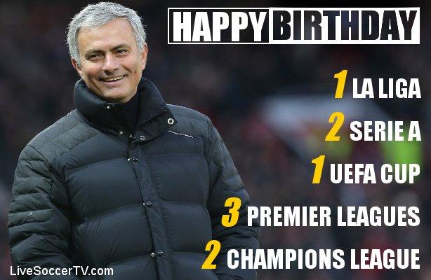 The Special One turns 5 4 today.  Happy birthday, Jose Mourinho