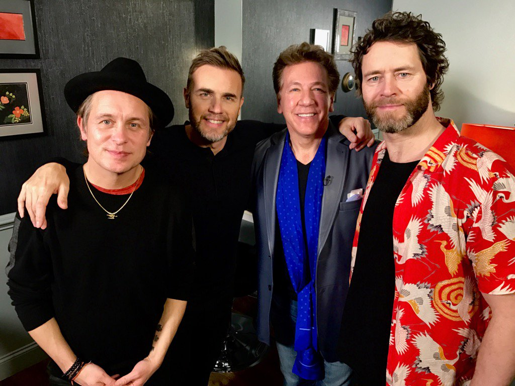 Great to see @GaryBarlow @HowardDonald @OfficialMarkO @takethat The band is back together!!! X @ITVLorraine @gmb https://t.co/pzNyOEWcjx