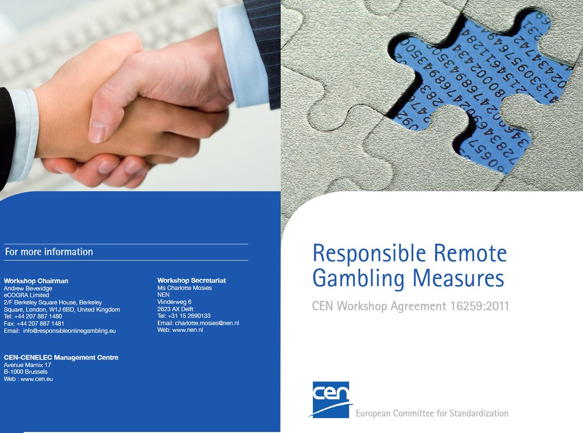 Cen workshop agreement online gambling arg casino