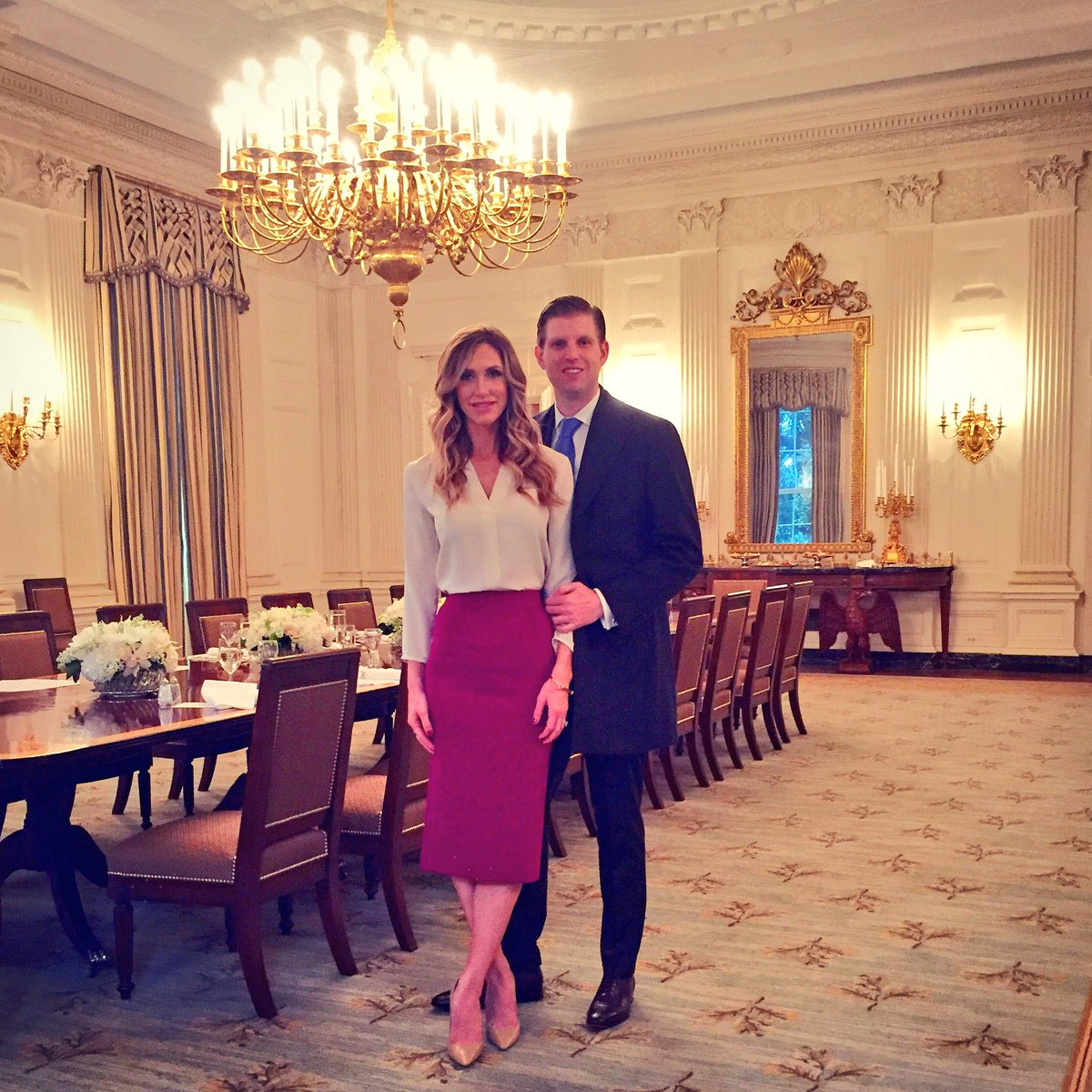 Lara Trump On Twitter Throwback In The White House Dining