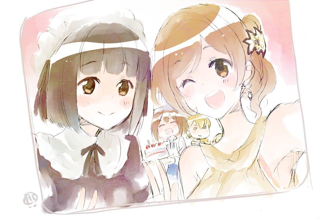 リョウコちゃんお誕生日おめでとうー!ヽ(=´▽`=)ノ 雪枝ちゃんも他のみんなも可愛かった~! #ス…