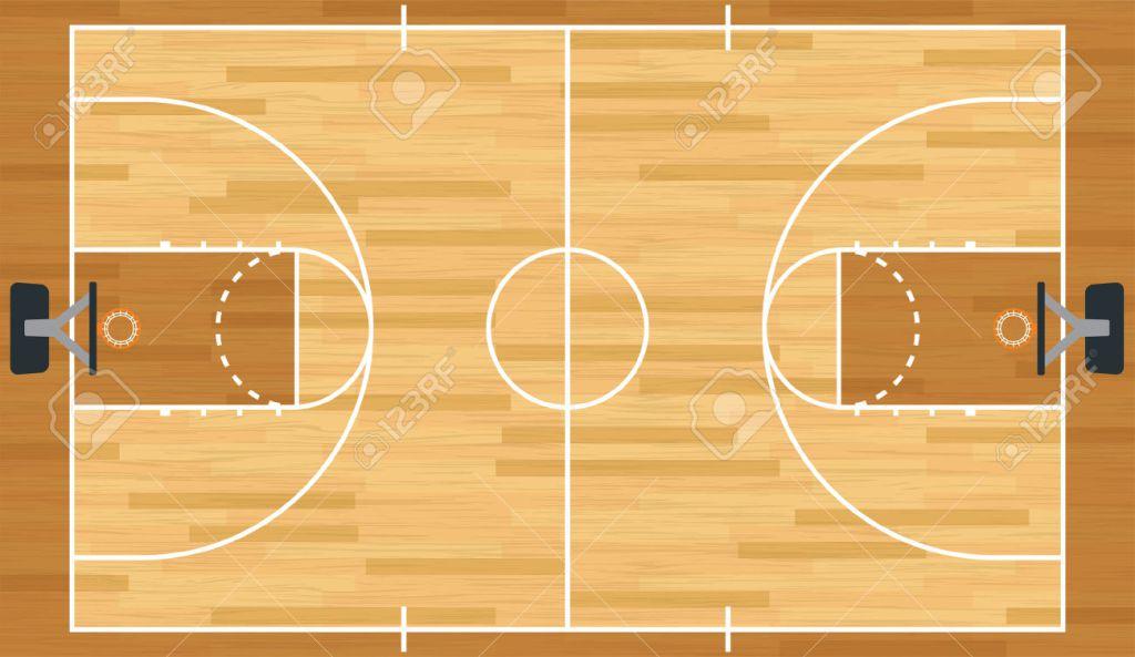 Miles taylor on twitter netball vs basketball vs for Basketball court wall mural
