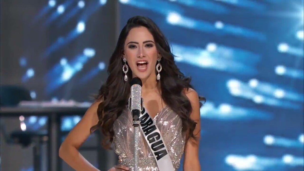 ¡Radiante! Así lució Marina Jacoby, #Nicaragua, durante la primera pasarela en la competencia preliminar de #MissUniverse