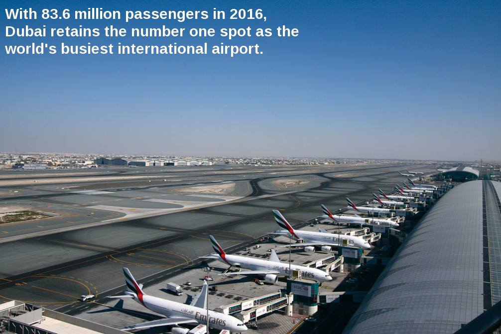 With 83.6M passengers in 2016, Dubai retains the Number 1 spot as the World's busiest International Airport. https://t.co/mcbRV9cS5i