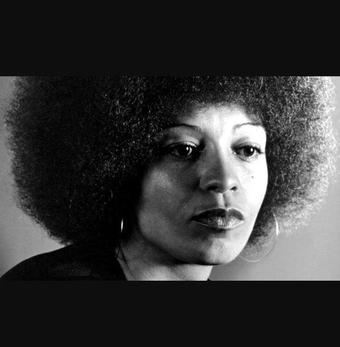 """We have to talk about liberating minds as well as liberating society.\"" Happy birthday Angela Davis"