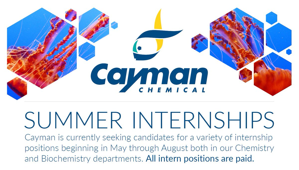 cayman chemical on we re looking for chemistry cayman chemical on we re looking for chemistry biochemistry college students for paid internships apply here before 10