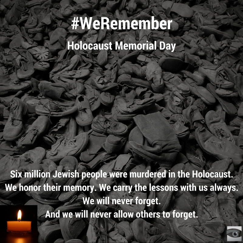 "Tomorrow is #HolocaustMemorialDay. #WeRemember  ""The Holocaust did not begin with killing, it began with words"" https://t.co/gAXeC7SqvN"