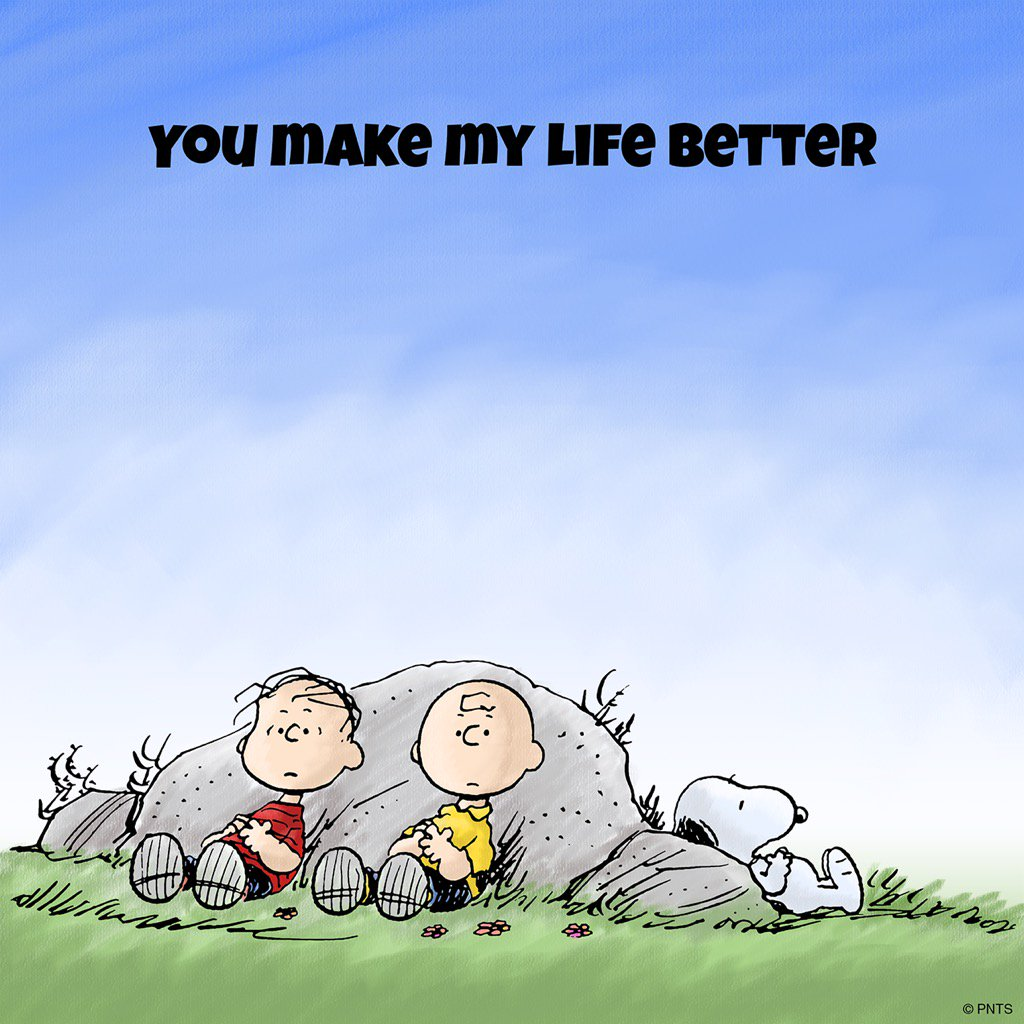 """PEANUTS on Twitter: """"You make ..."""