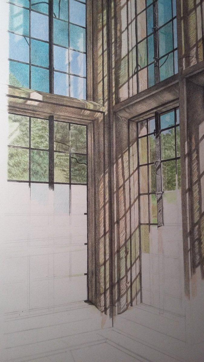Mark Langley Artist On Twitter Colour Pencil Drawing Workinprogress Haddonhall