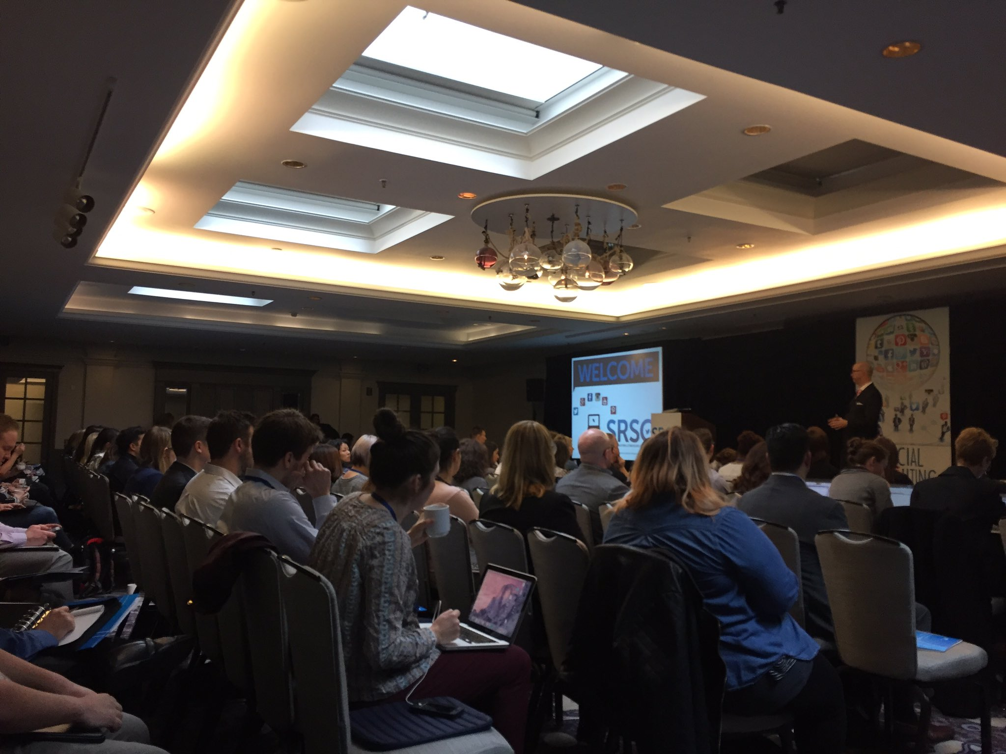 Packed house at #SRSC! Looking forward to great content about improving employer branding and new social #recruiting strategies. https://t.co/ShUlK1Q9xS