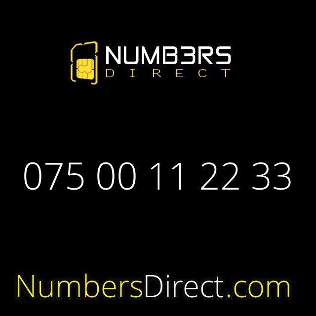 075 00 11 22 33 (£7500) #mobilenumbers #goldnumbers #personalisednumbers #vipnumbers #platinumnumbers #sim #exclusivenumbers #numbersdirectpic.twitter.com/2nn5fFaHQj