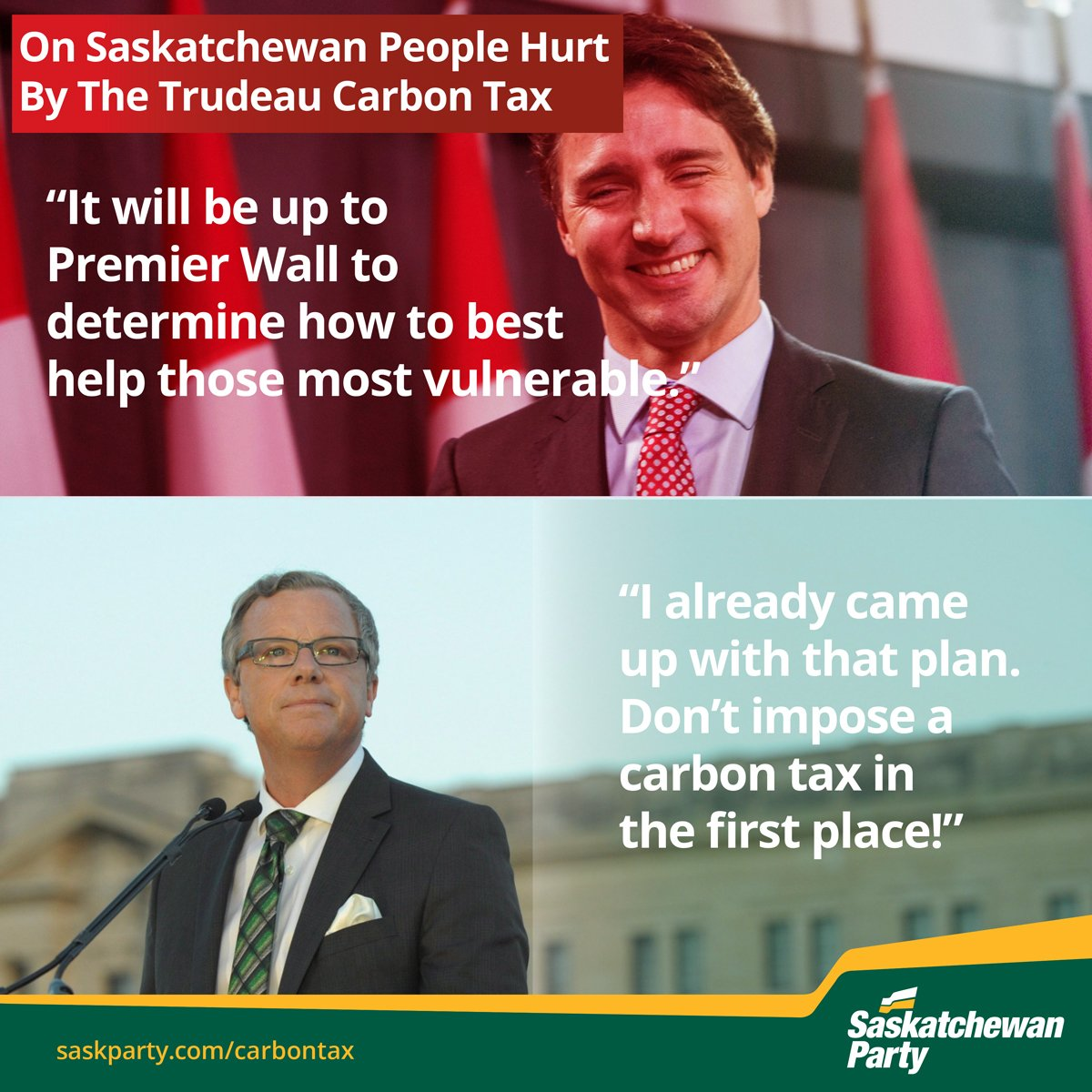 .@PremierBradWall's plan to help SK people harmed by Trudeau carbon tax..don't have a carbon tax.   Retweet if you support this plan #skpoli