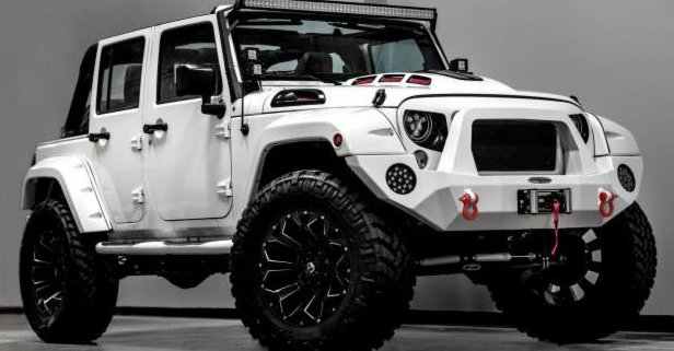the force is strong with this custom stormtrooper jeep wrangler. Black Bedroom Furniture Sets. Home Design Ideas