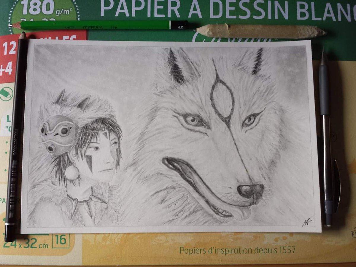 N Draw On Twitter Fanart Princesse Mononoke Drawing