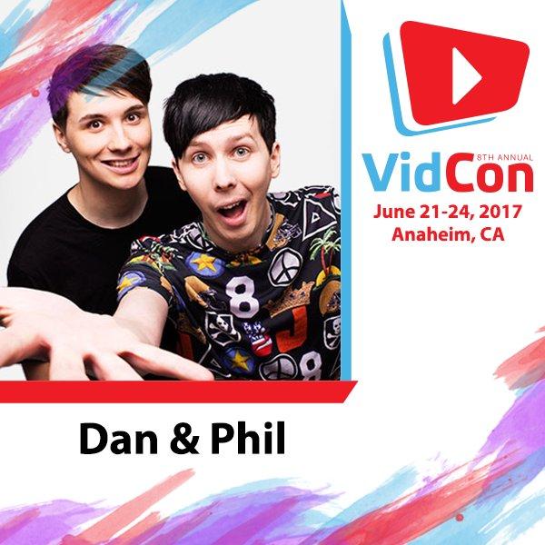... @danisnotonfire AND @AmazingPhil are coming to #VidConUS!! https://t.co/OIGzcoEpiw