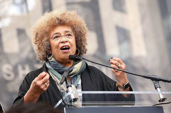 Happy 73rd birthday to activist and author Angela Davis, seen at the on Washington. : Getty Images