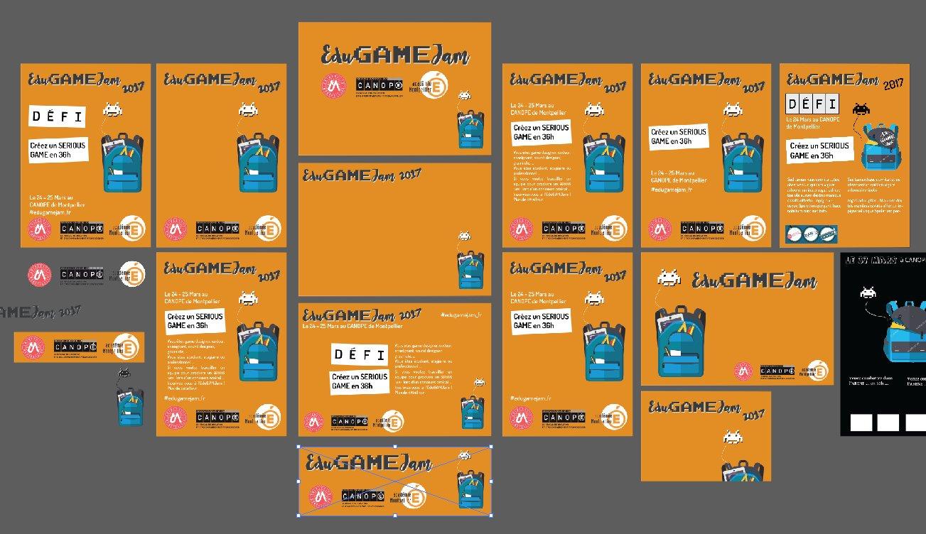 Fini ! Voici l'affiche de l'EduGAMEJam 2017 avec toutes ses déclinaisons !!! #edugamejam_fr https://t.co/6SahDfteHD