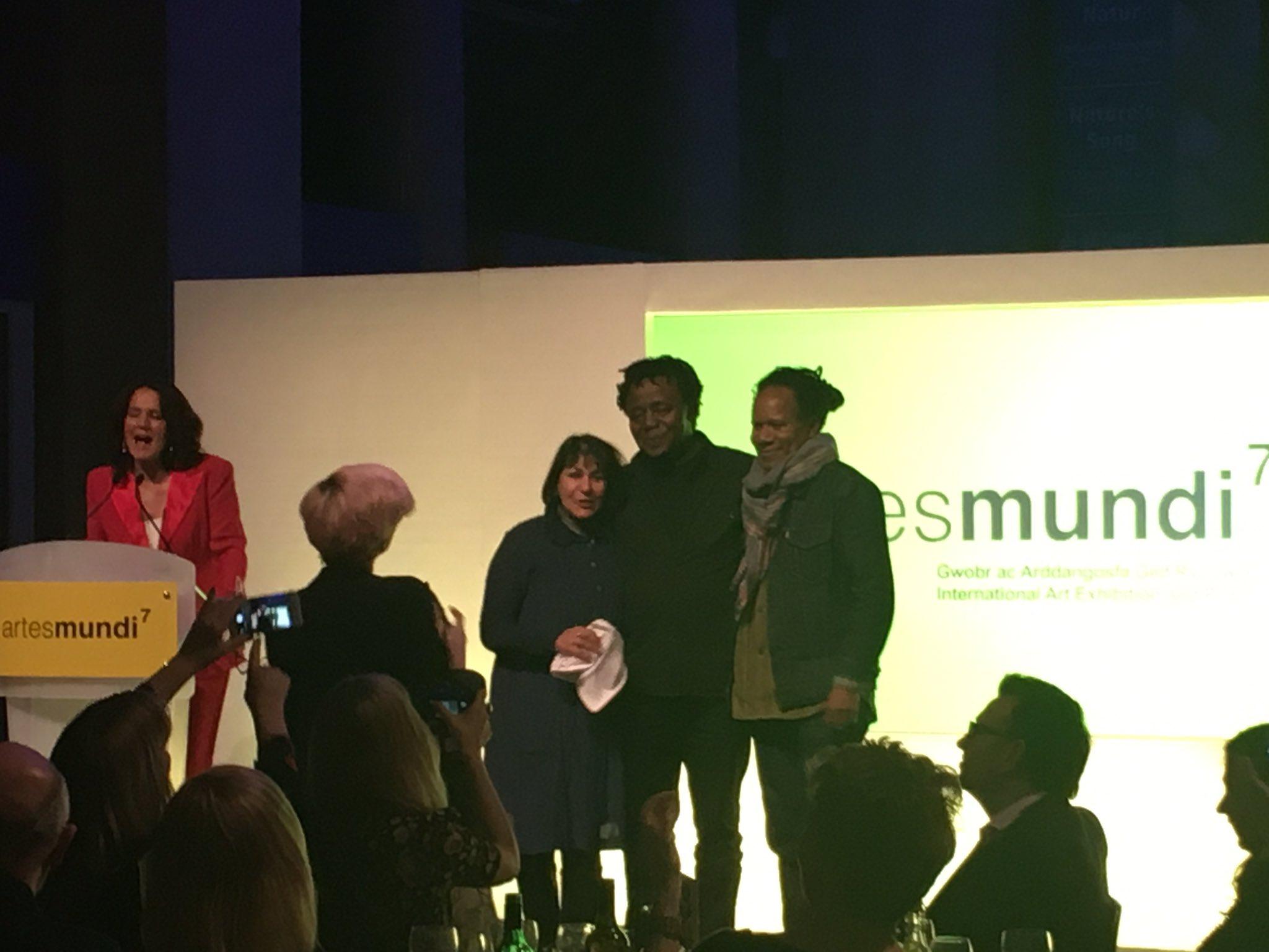John Akomfrah is announced as the winner of #artesmundi7. Congratulations! https://t.co/v2aP0aKO9P https://t.co/YtLuXpLLT3