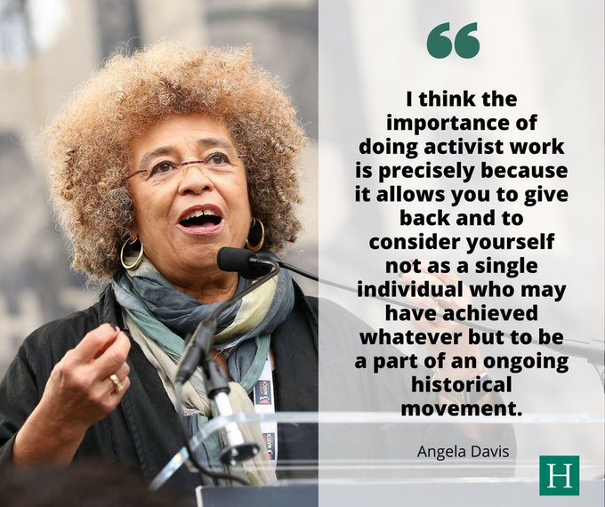Happy 73rd birthday to renowned activist, scholar and revolutionary Angela Davis!