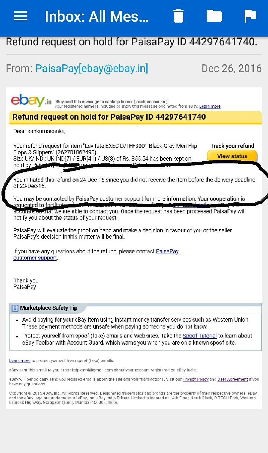 Sankalp Kumar On Twitter Don T Know What S Wrong Is Going With Your Policies Or U R Just Fooling Your Customer Askebay Ebay Ebaydotinhelp Have A Look At It Https T Co Jvcw5io75i