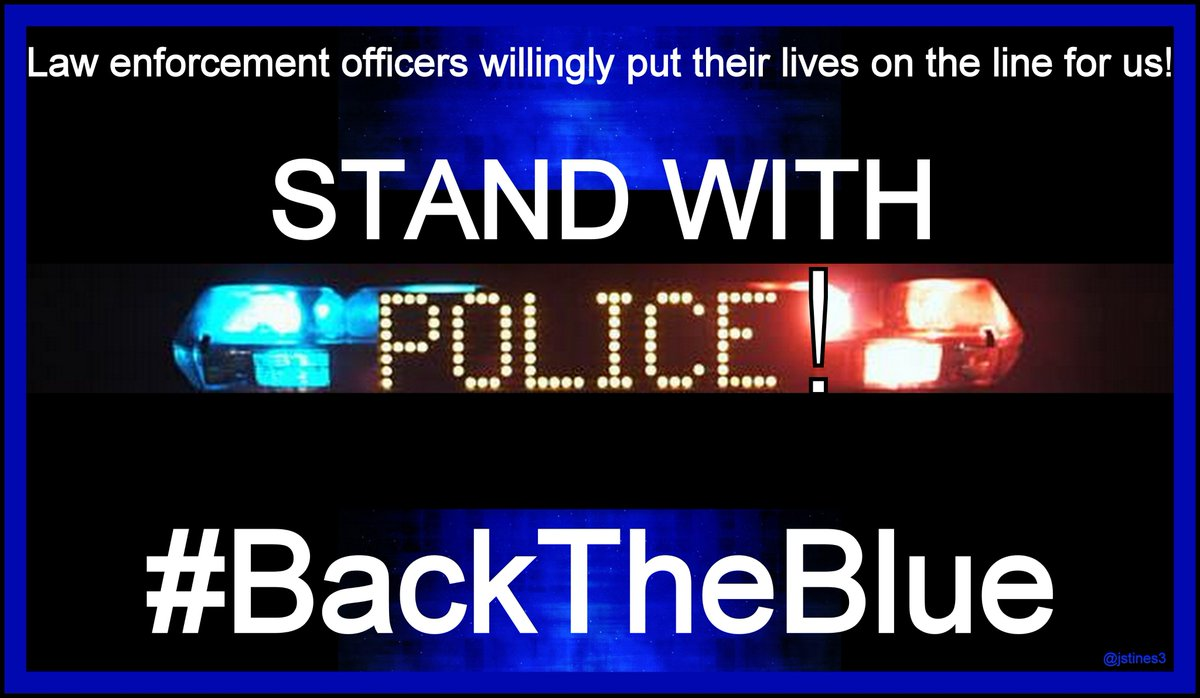 Police willingly put LIVES ON THE LINE for us every day!   #PJNET #BackTheBlue #BlueLivesMatter   <br>http://pic.twitter.com/XTrizwcbFz