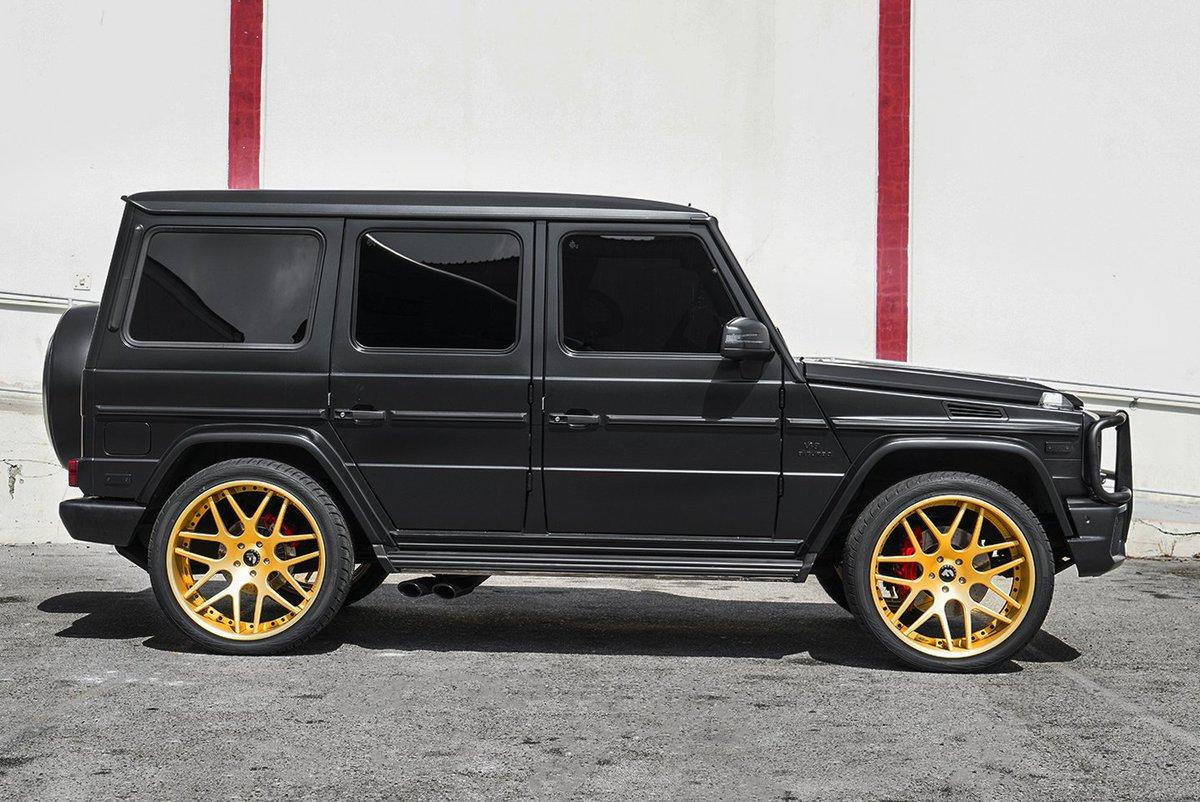 Forgiato Wheels On Twitter Matte Black G Wagon With Gold Forgis