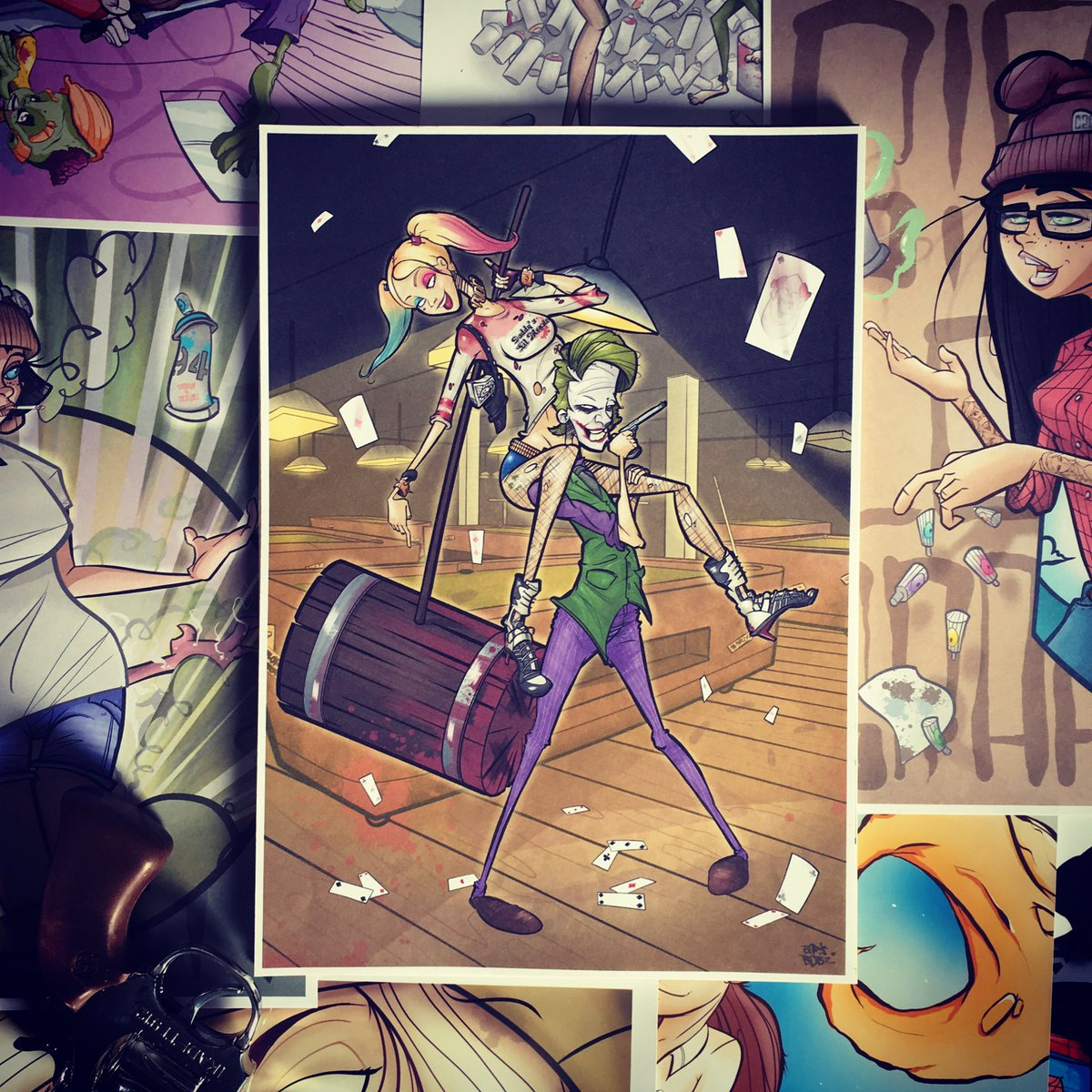 Boris Bobz On Twitter Joker Harley Quinn Draw Drawing Art