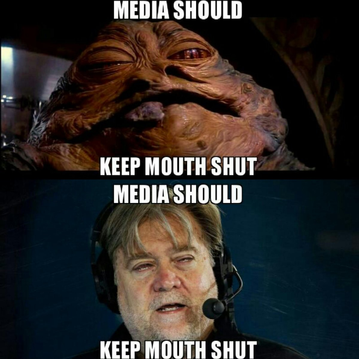 Evan Kelly On Twitter Jabba And His Cousin Steve Bannon The Hutt