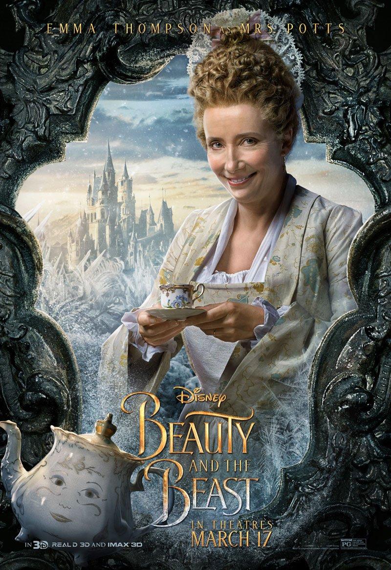 実写版「美女と野獣」よりキャラクターポスターが公開。エマ・ワトソン扮する美女ベル、ダン・スティーヴン…