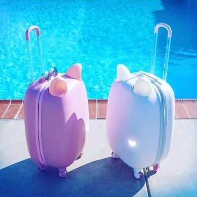 ぴょこぴょこ  動くネコミミつきスーツケース「Fravel」がクラウドファンディングで人気 かわいさ…