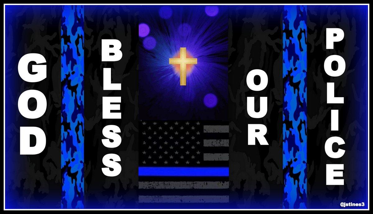 GOD bless our POLICE!   #BackTheBlue #BlueLivesMatter #PrayForPolice #PJNET<br>http://pic.twitter.com/tlJs0PCSS6