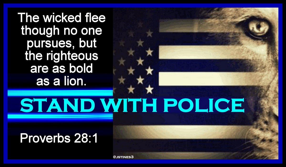 MT @jstines3: POLICE stand against EVIL for each of us!  #StandWithPolice #PoliceLivesMatter <br>http://pic.twitter.com/fZKtjicmD1 #BlueLivesMatter #PJNET