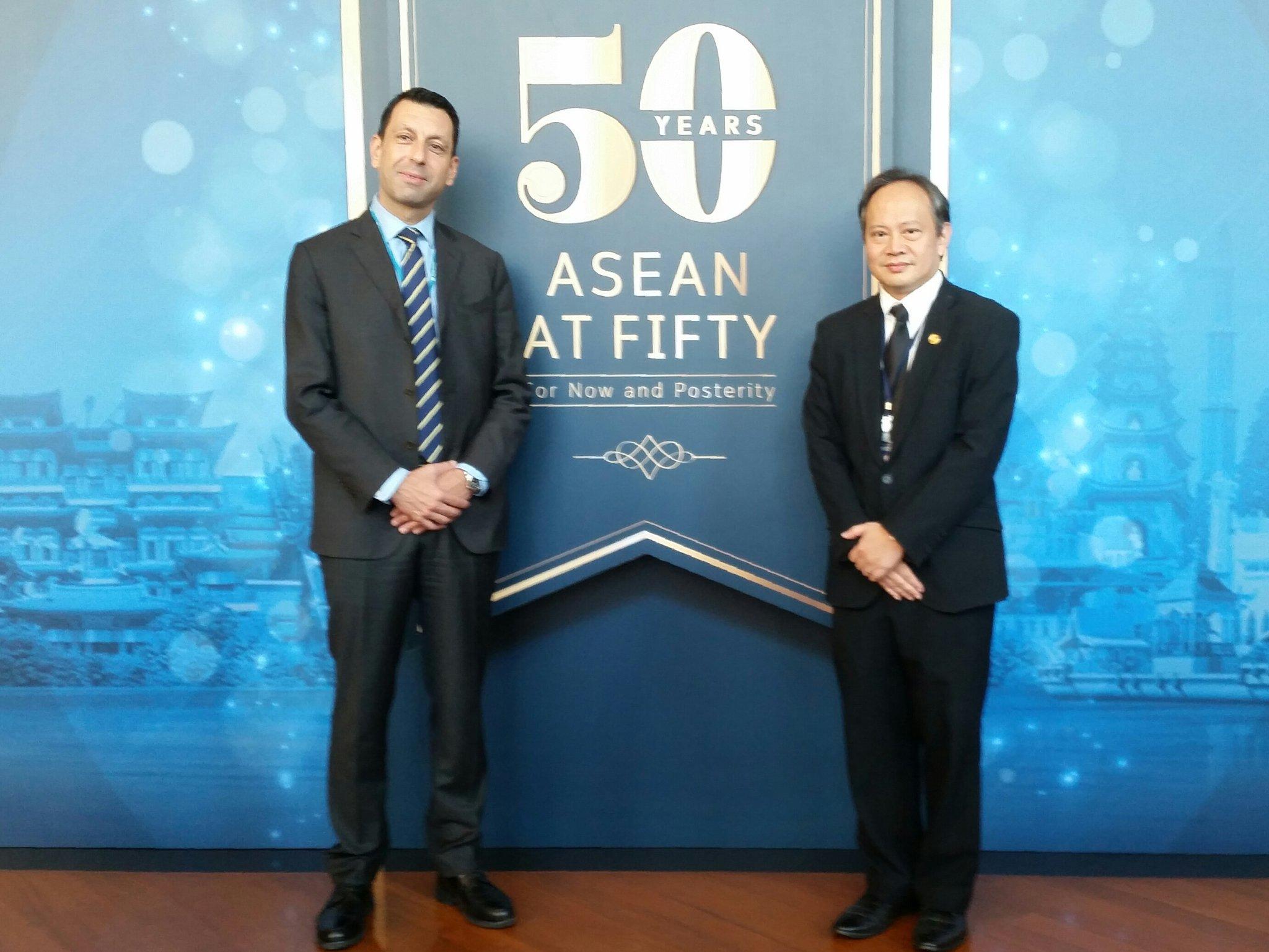 Commemorating 50th Anniversary of #ASEAN @ MOFA #Thailland @ThailandUN @UNESCAP https://t.co/feJk0QC5QR