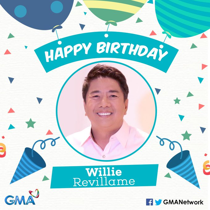 Happy birthday, Willie Revillame! May you continue to be a blessing and source of happiness to all our Kapuso!