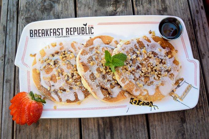 Breakfast Republic's Cinnamon Roll Pancake Recipe