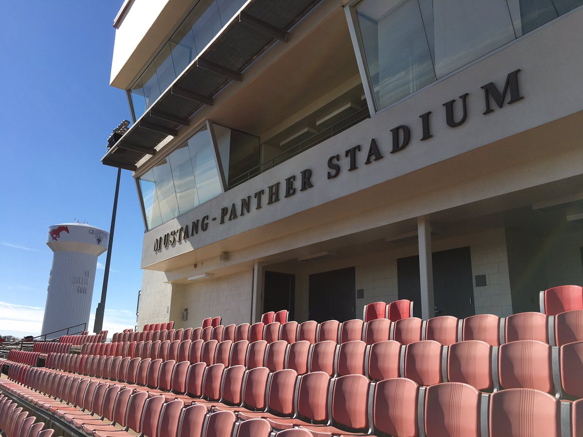 Another #StadiumProject Mustang-Panther Stadium Home of Grapevine &amp; Colleyville Heritage High Schools #txhsfb<br>http://pic.twitter.com/LJIXYVWPG5