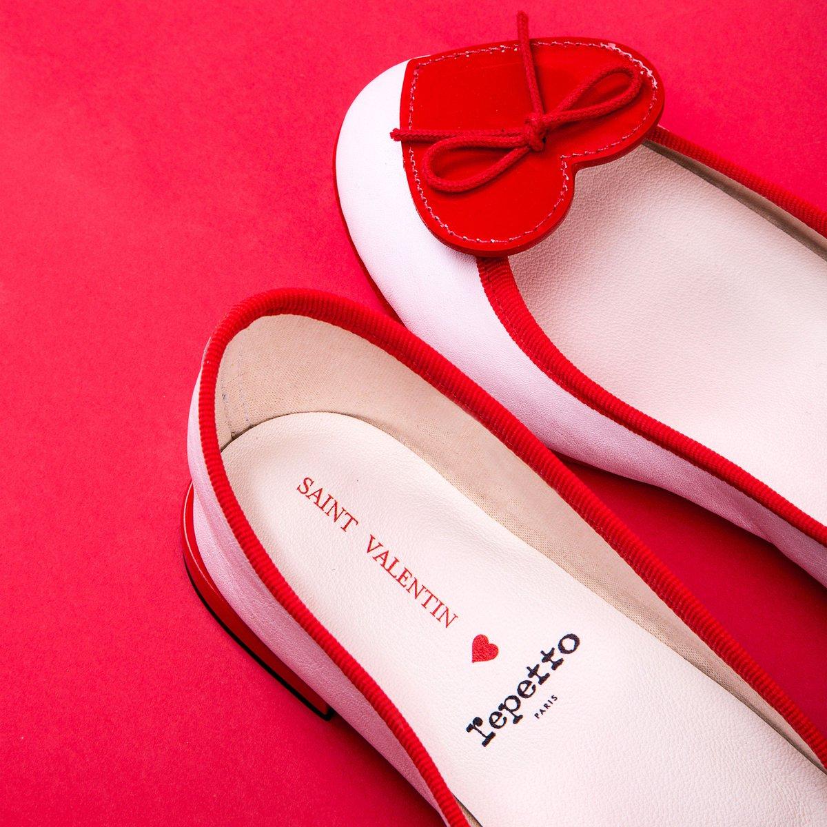 レペット、バレンタインに向けた10足限定「バレエシューズ」トゥに真っ赤なハート fashion-pr…