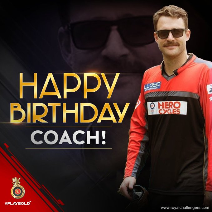 RCB and legend Daniel Vettori turns 38 years old! Happy birthday coach!