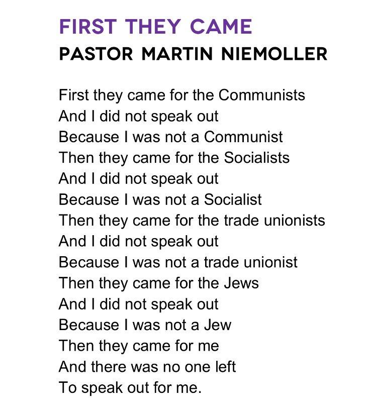 Ben Ward On Twitter This Holocaustmemorialday Martin Niemollers