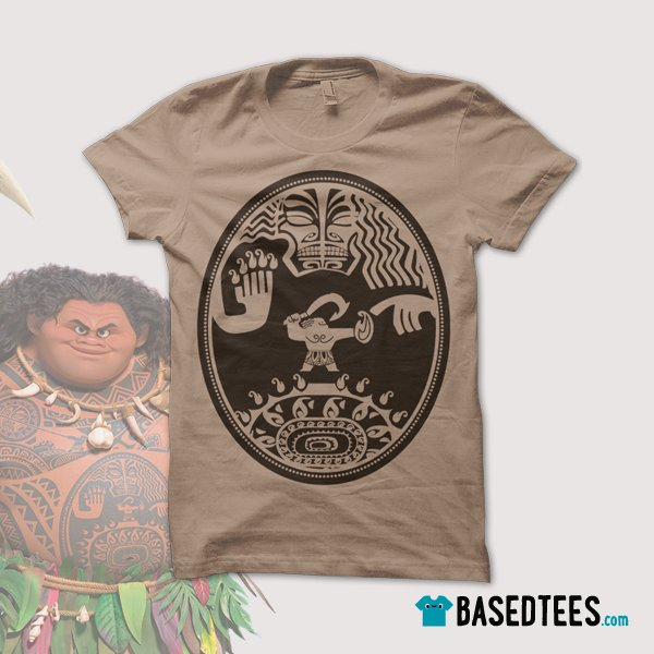 """basedtees on twitter: """"new color: camel t-shirt for #moana"""